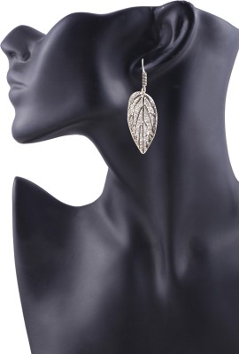 Arittra Leaf Style German Silver Dangle Earring