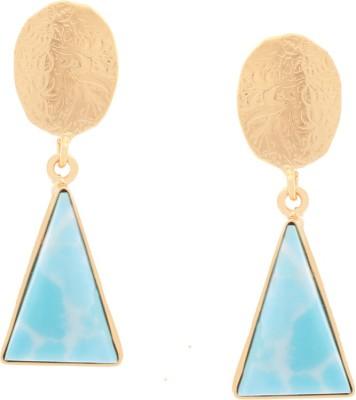 Orolush Stunning Larima Batti Blue tone Copper Drop Earring