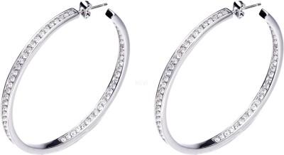 Nevi Simple Crystal, Swarovski Crystal Metal, Crystal, Brass Hoop Earring