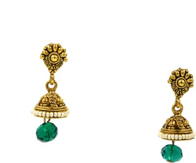 SK A Pair of Fashion Colour Spark Earrings Brass Drop Earring