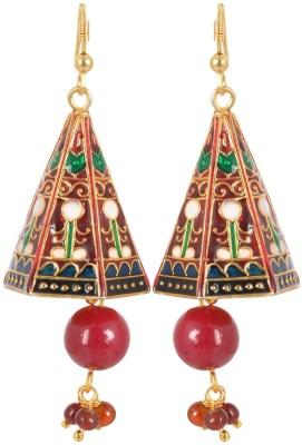 AGRIM Metal Enamel Jhumki Earring Brass Jhumki Earring