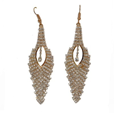 WoW Gold Oval Touch Crystal Dangle Earring