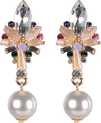 Shining Jewel Marquise Delight Crystal Brass Drop Earring