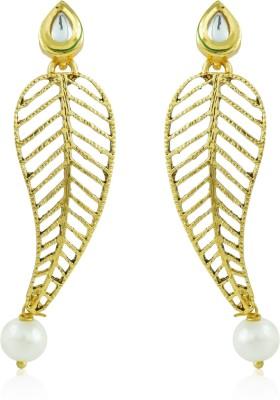 BoBell Delicate Leafy Vindali Copper Drop Earring