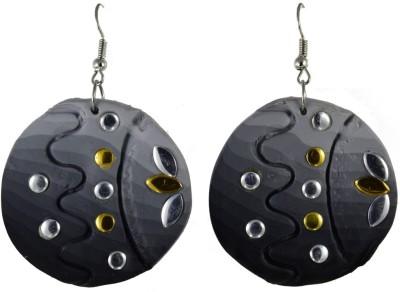 High Trendz Beautiful Grey Circle Ceramic Dangle Earring