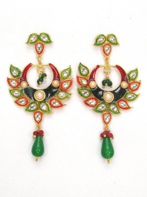 LimeMode Peacock Feather Shape Alloy Drop Earring