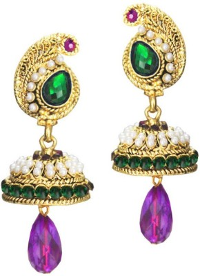 Beingwomen Elegant Stone with pearl Studded Fashion Alloy Jhumki Earring