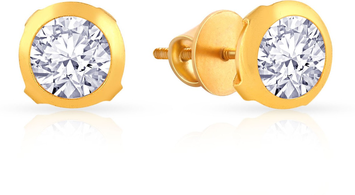 7c694c9ee Malabar Gold and Diamonds ERDZSKY003 Yellow Gold 22kt Cubic Zirconia Stud  Earring. ₹ ₹2305 (MRP). Price on Flipkart: 2305