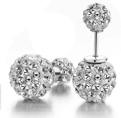 iSweven ball Pierced Silver Plated Latest Fashion Luxury ED2537 Zircon Alloy Stud Earring