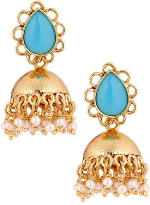 the jewelbox Firoza Copper Jhumki Earring