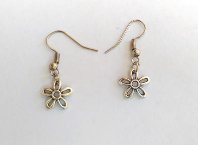 SrinidhiHandiCreations Floral Metal Dangle Earring