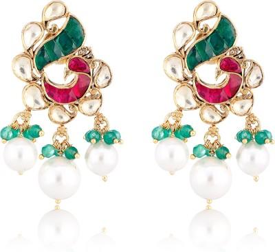 Aarohee Traditional Sparkle Sterling Silver Drop Earring