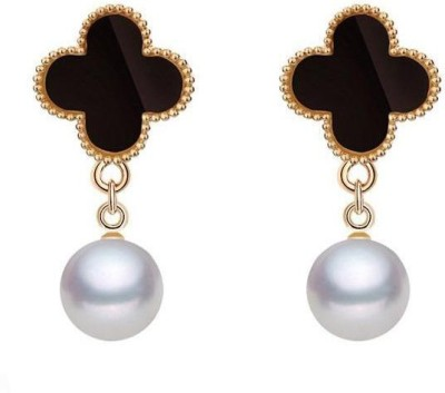Roma Brothers Lvstyledrop Pearl Alloy Drop Earring