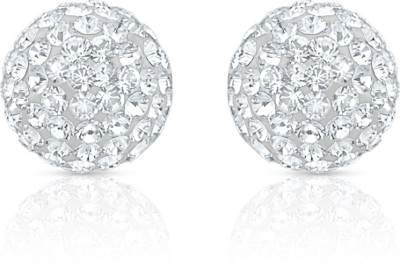 Oviya Mesmerizing Shine Crystal Alloy, Brass Stud Earring