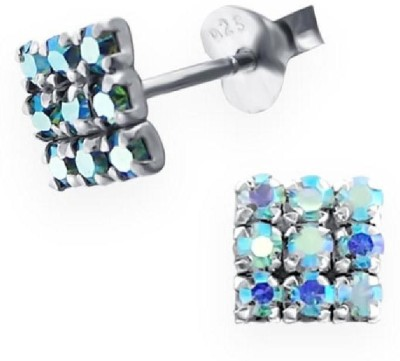 Maayin Squares Sterling Silver Stud Earring