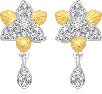 Classic Nakshatra Gold And Rhodium Plated Earrings for Women [CJ1014ERG] Cubic Zirconia Alloy Drop Earring