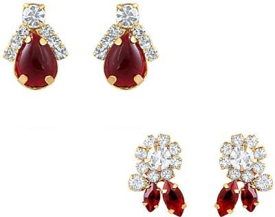 Oviya Shimmering Crystal Alloy Earring Set