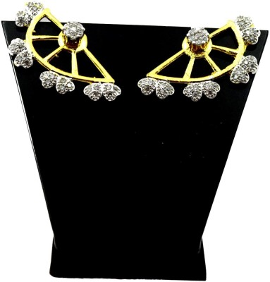 Bharat Sales New Or Pretty Looking In White Color Cubic Zirconia Alloy Cuff Earring
