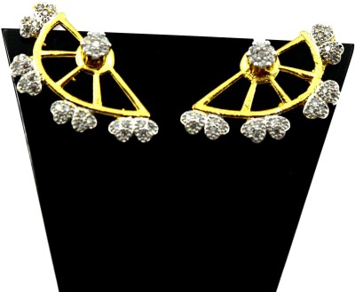 Bharat Sales Fashionable And Latest In Alloy For Girls Cubic Zirconia Alloy Cuff Earring