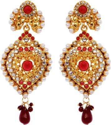 Rays 843107151 Pearl, Crystal Copper, Zinc Drop Earring