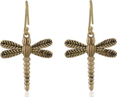 ZeroKaata Dragonfly Daze Brass Dangle Earring