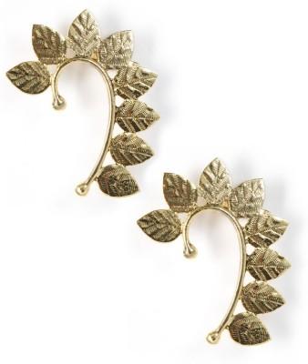 Zahra Jani ZJ Leaf Earcuff Brass Cuff Earring