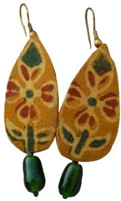 Ba No Batwo Chhapa Fabric, Plastic Dangle Earring
