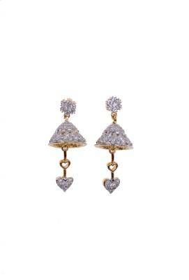 Navya Navya Collection_Jhumki Style American Diamond Ear Rings Cubic Zirconia Alloy Jhumki Earring