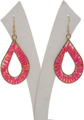 Galz4ever Love these seed bead Metal, Glass Dangle Earring