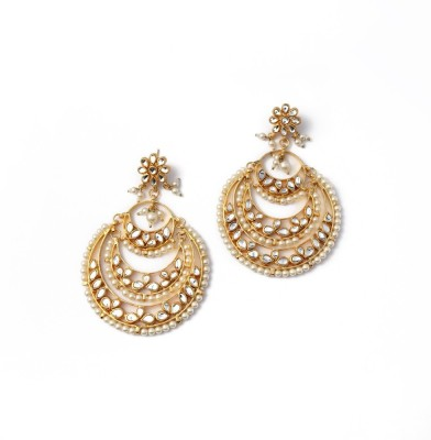 Posh By Rathore Statement Alloy Chandelier Earring