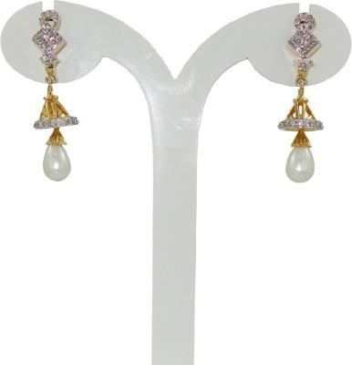 Anjan Perfect Designer Cubic Zirconia Brass Drop Earring
