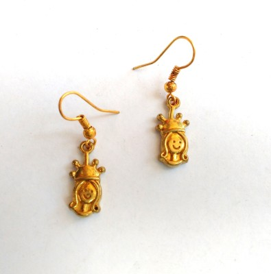 SrinidhiHandiCreations Queen Brass Dangle Earring