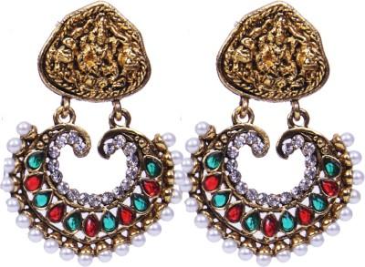 Traditsiya Stone Plated Alloy Chandbali Earring