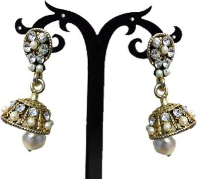 Royalminchem Spring Sparkle Brass Jhumki Earring