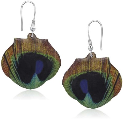 Urthn Peacock Feather in Multicolor-1304712 Alloy Dangle Earring