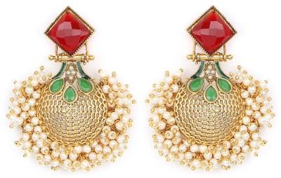 Johareez Beautiful Cubic Zirconia Alloy Dangle Earring