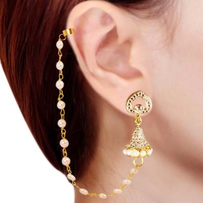 Prisha PPIPLCZER41 Zircon Copper Jhumki Earring