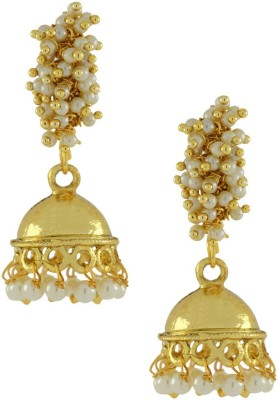 Naveli Artificial Jewellery Pearl Alloy Jhumki Earring
