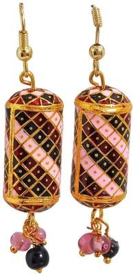 Maayra Great Meenakari Brass Dangle Earring
