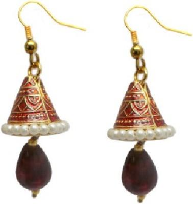 Charvee Minakari Cone Alloy Jhumki Earring