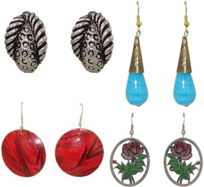 Anjan Gorgeous Designer 4 Piece Combo Brass Earring Set