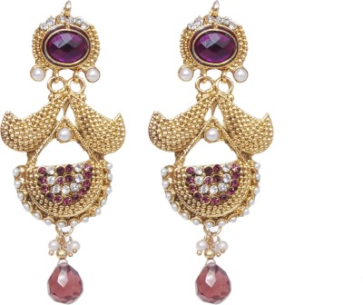 NM Products Purple Alloy Chandelier Earring