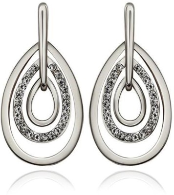 iSweven 2015 Latest Fashion Luxury White Gold Plated Vintage Ed2535 Zircon Alloy Drop Earring