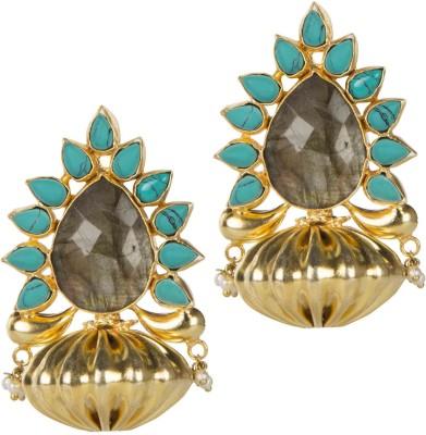 Mehtaphor Urja Crystal Brass Stud Earring