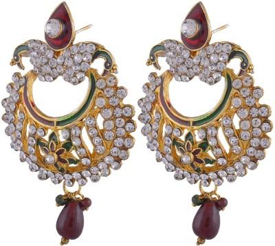 Manukunj Brass Chandbali Earring