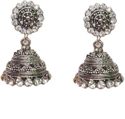 NM Products Fabulous Silver Jumki Metal Jhumki Earring