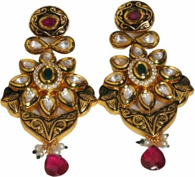 Rivaz Jewels Zircon Brass Drop Earring