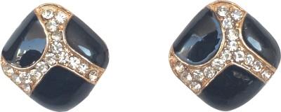KooKoo Fashion Black shine Crystal Acrylic, Alloy Stud Earring