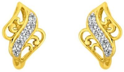 JPearls Outstanding Cubic Zirconia Gold Stud Earring
