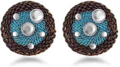 Jazz Jewellery Fancy Design White Stone Blue & Black Stunning Earrings Alloy Drop Earring